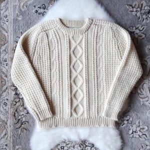 VINTAGE Falcarragh Irish Wool Knit Sweater